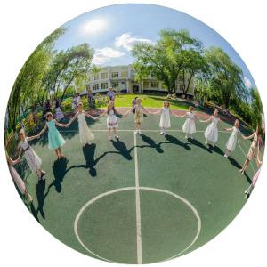 3D панорама Выпускной в детском саду